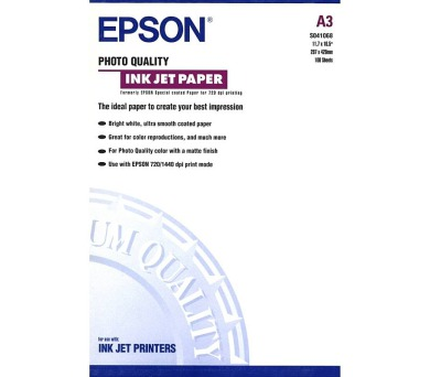 Epson A3 Photo Quality Ink Jet (100 sheets)