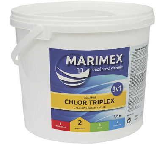 Marimex AQuaMar - Chlor Triplex 4,6 kg + DOPRAVA ZDARMA