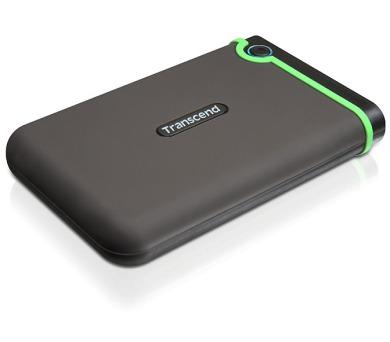 Transcend StoreJet 25M3 500GB - šedý/zelený