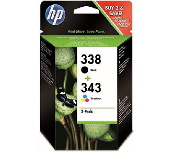Inkoustová náplň HP No. 338 + 343 + DOPRAVA ZDARMA