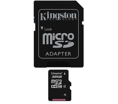 Kingston MicroSDHC 32GB Class4 + adapter