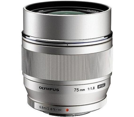 Olympus M.ZUIKO DIGITAL ED 75mm 1:1:8 stříbrný + DOPRAVA ZDARMA