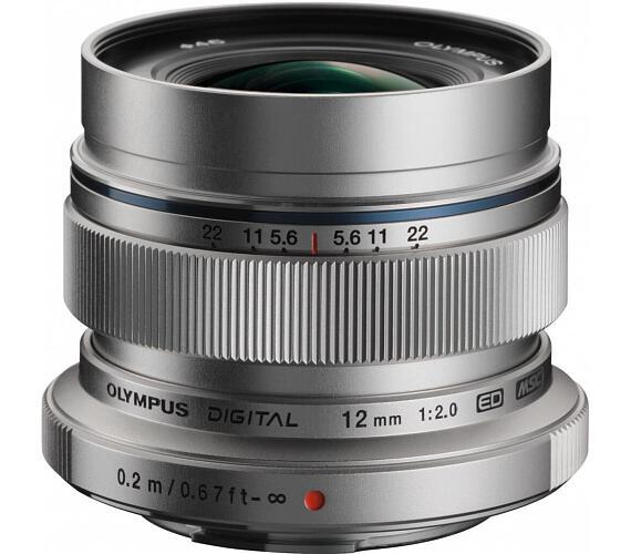 Olympus M.ZUIKO DIGITAL ED 12mm 1:2.0 stříbrný + DOPRAVA ZDARMA