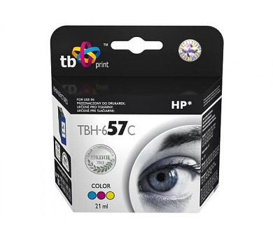 TB HP C6657AE (No.57) Color kompatibilní - červená/modrá/žlutá
