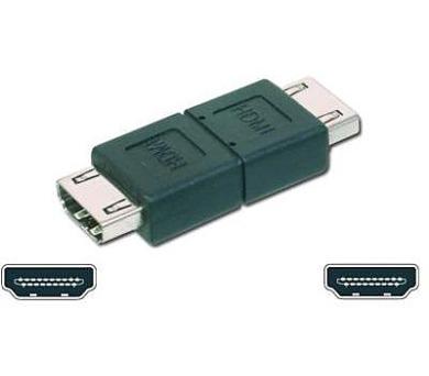 Digitus HDMI A - HDMI A spojka - černý