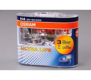 Osram 12V H4 60/55W P43t 1ks Ultra Life 3x delší životnost