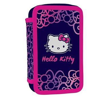Penál školní P + P Karton dvoupatrový plněný Hello Kitty Kids