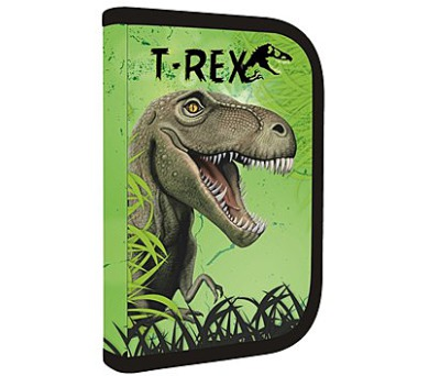 Penál školní P + P Karton jednopatrový naplněný T-Rex