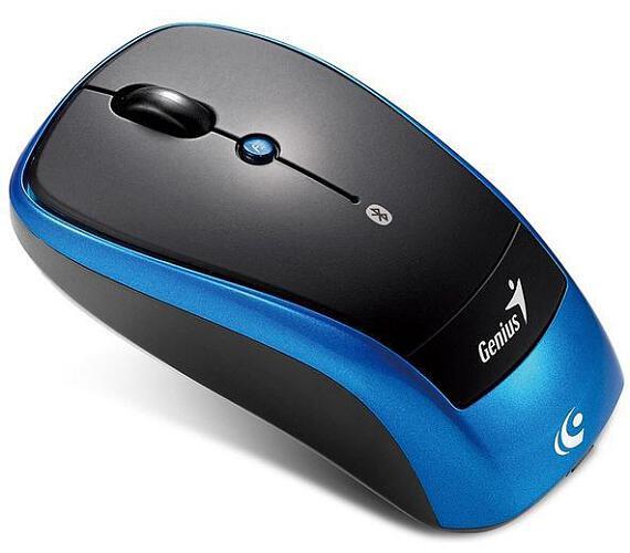 Genius Traveler 9005BT / optická / 4 tlačítka / 1200dpi - černá/modrá