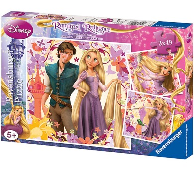 Puzzle Princezna na vlásku 3 x 49d