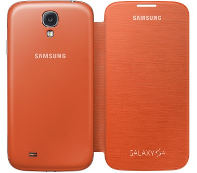 Samsung pro Galaxy S4 (EF-FI950BOEG) - oranžové