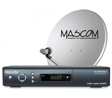 Mascom MC2600/80M3 příjem tří družic