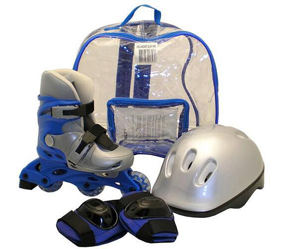 Rulyt brusle + helma + chrániče velikost M