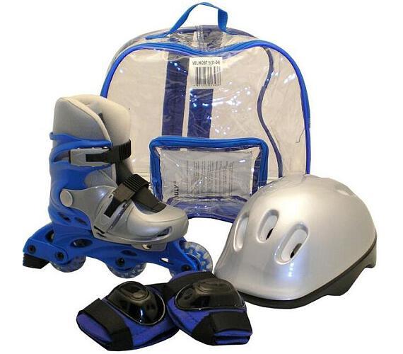 Rulyt brusle + helma + chrániče velikost S