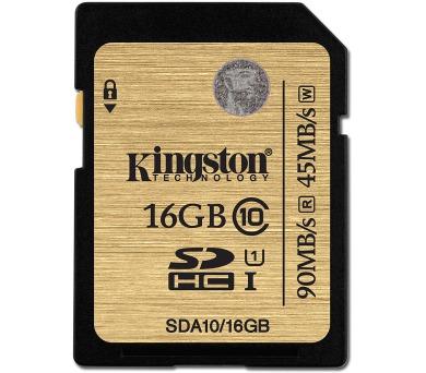 Kingston SDHC 16GB UHS-I U1 (90R/45W) + DOPRAVA ZDARMA