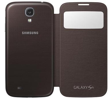 Samsung EF-CI950BAEG flip S-view pro Galaxy S4 (i9505) - hnědý + DOPRAVA ZDARMA
