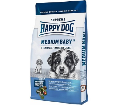 Granule HAPPY DOG MEDIUM Baby 28 10 kg