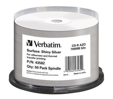 Verbatim CD-R Thermal Printable 52x DLP 50ks spindl