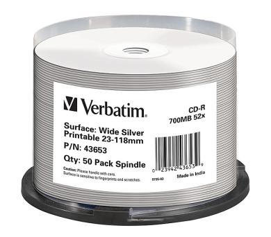 Verbatim CD-R Printable 52x DLP 50ks spindl
