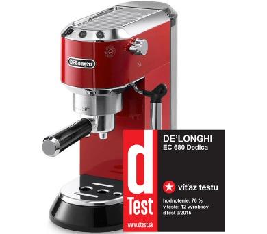 DeLonghi EC 680 R červené + DOPRAVA ZDARMA
