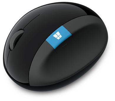 Microsoft Sculpt Ergonomic /BlueTrack / 4 tlačítka / 1000dpi - černá + DOPRAVA ZDARMA