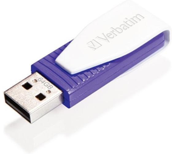 Verbatim Store 'n' Go Swivel 64GB USB 2.0 - fialový