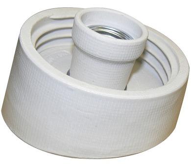 Instalační armatura porcelánová šikmá E27