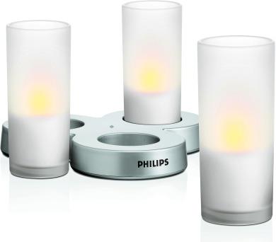 LED svíčky Philips CandleLights White 69108/60/PH