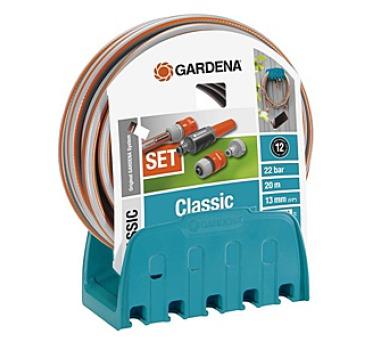 Gardena - nástěnný držák na hadici s hadicí