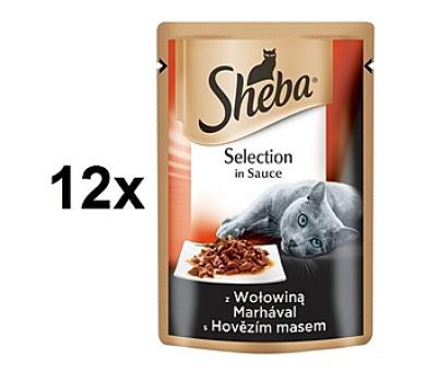 Sheba CUISINE hovězí maso ve šťávě 12 x 80g