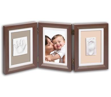 Sada pro otisk Baby Art - Rámeček Double Print Frame Brown & Taupe/Beige