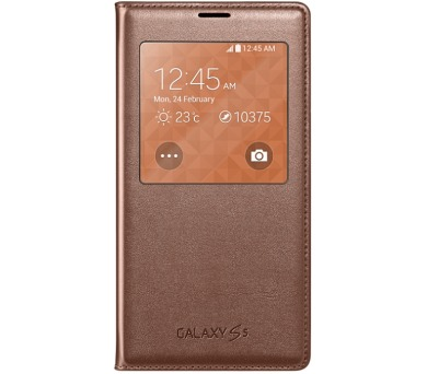 Samsung S-view pro Galaxy S5 (EF-CG900B) - zlaté + DOPRAVA ZDARMA