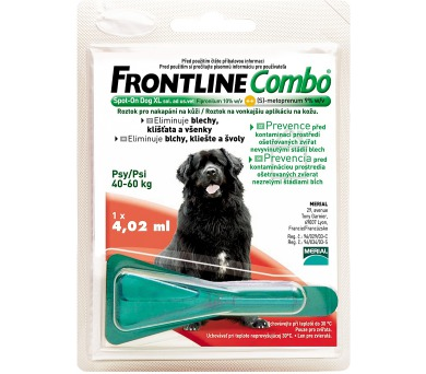 Frontline Combo Spot-on Dog XL 1 x 4,02 ml (pes 40 - 60kg)