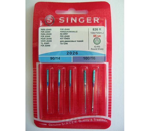 Singer BLISTER 826 - 2026/90,100 JEANS 5 ks