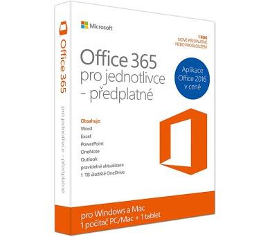 Microsoft Office 365 pro jednotlivce CZ + DOPRAVA ZDARMA