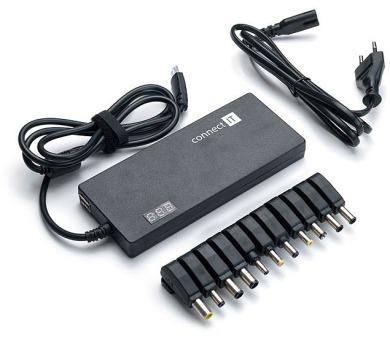 Univerzální nabíječka Connect IT CI-134 90 W s displejem + DOPRAVA ZDARMA