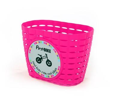 FirstBIKE Košík na řidítka růžový