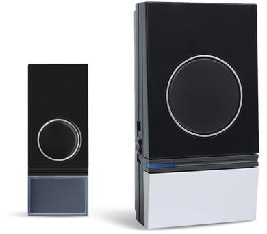Zvonek bezdrátový 230V 1L29 černostříbrný