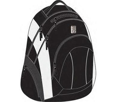 Batoh školní SunCe studentský SCI-FI černý