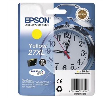 Epson Yellow 27XL DURABrite Ultra Ink
