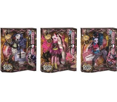 Monster High noví kříženci - assort třech panenek + DOPRAVA ZDARMA