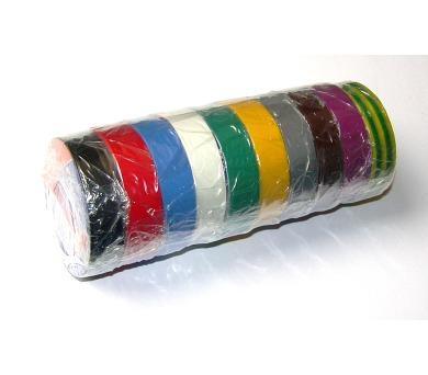 Izolační páska PVC 15/10 ANTICOR 211 DUHA - 10barev