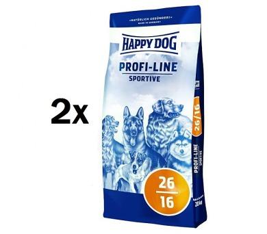 Granule HAPPY DOG Profi-Line SPORTIVE 26/16 - 2 x 20 kg