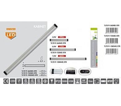 LED svítidlo KABINET TL7019-72SMD/STR vč.HF senzoru