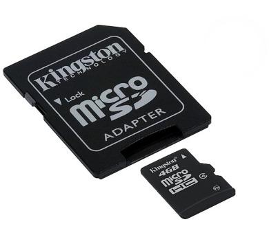 Kingston MicroSDHC 4GB Class4 + adapter