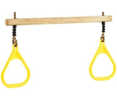 CUBS dřevěná s plastovou rukojetí - žlutá