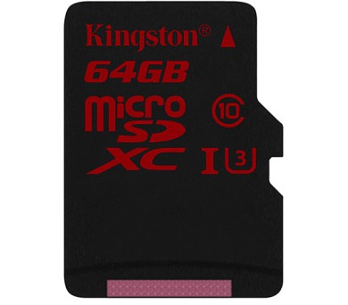 Kingston MicroSDXC 64GB UHS-I U3 (90R/80W)