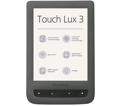 Čtečka e-knih Pocket Book 626 Touch Lux 3 - šedá