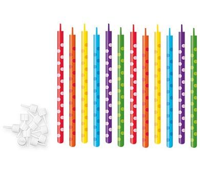 Dortové svíčky DEL.KIDS 10cm