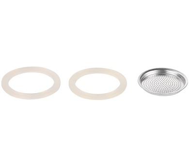 Silikonové těsnění 2 ks a filtr PALOMA 9 šálků